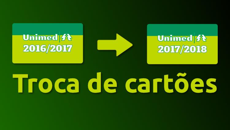 Troca dos cartões do Plano de Saúde Unimed - UFU