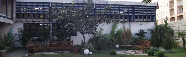 Jardim da Diretoria de Comunicação Social - Campus Santa Mônica